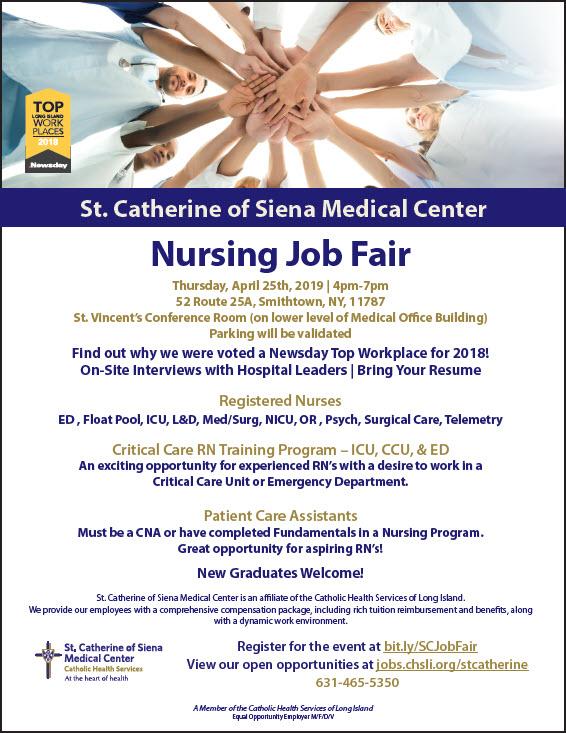 St  Cathrine of Siena Medical Center Nursing Job Fair | LIHC