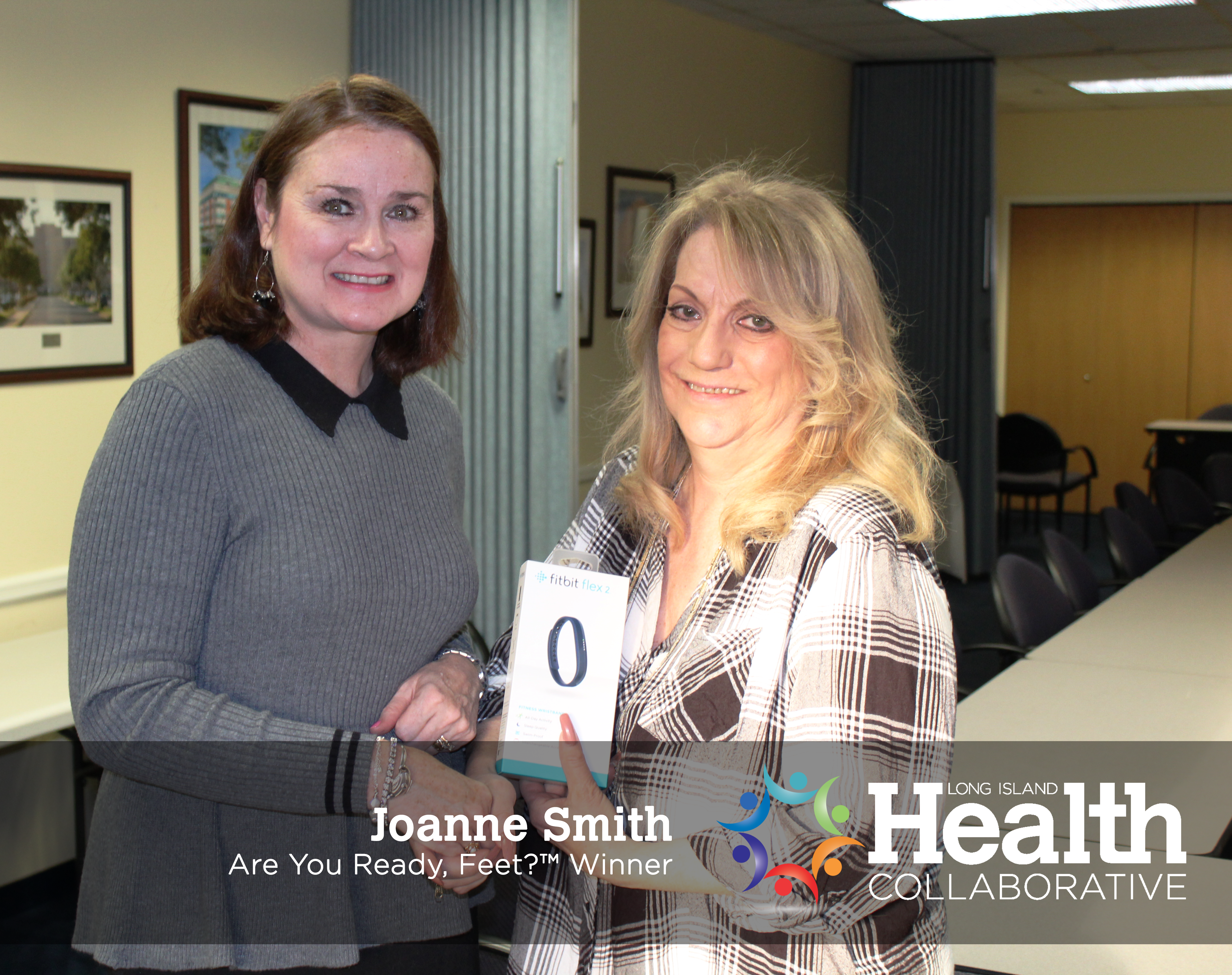 Joanne Smith, winner of the Are You Ready, Feet? prize