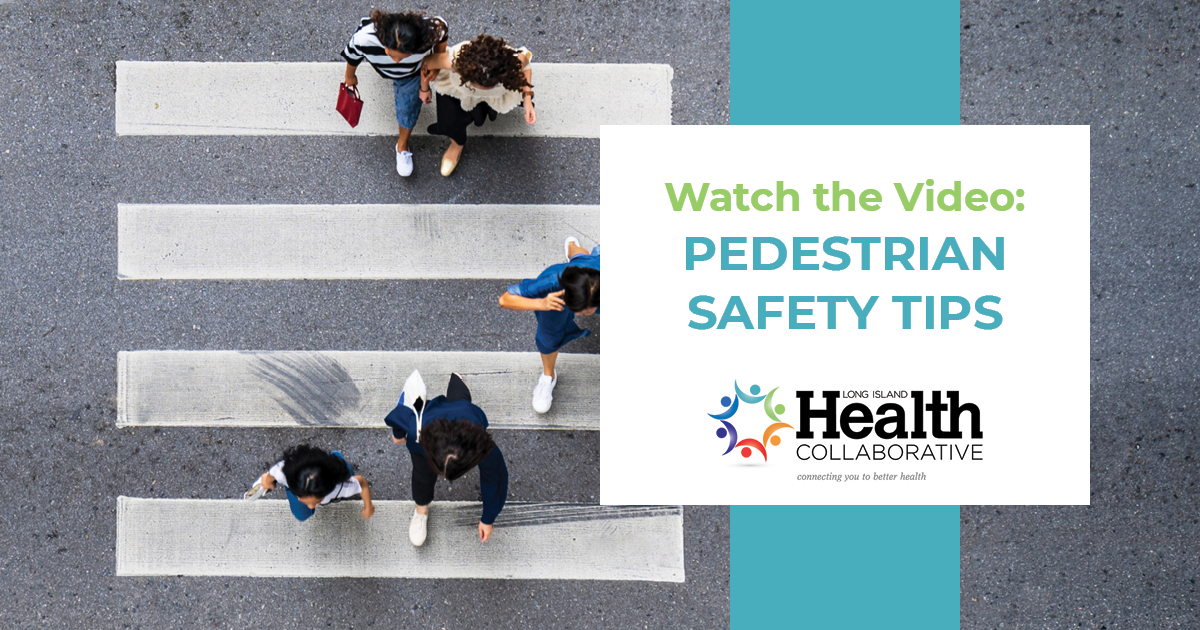 pedestrian safety tips while walking in the crosswalk.