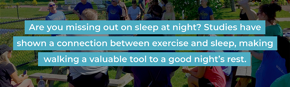 Quote about walking and sleep.